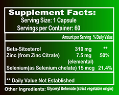 Supplement Facts Best Prostate